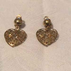 💃Awesome Estate Vintage Heart Clip Style Earrings